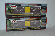 2 Atlas 1359 Conrail 50' Precision Design Box Car Ho Scale