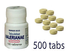 500 VALERIAN PILLS TABLETS NATURAL SLEEP INSOMNIA ANXIETY DEPRESSION STRESS HERB