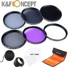 52mm Lens Filter Kit UV CPL FLD ND 2 4 8 For Canon Rebel T5i T3i XTi XS EF 40mm