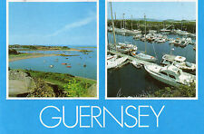 postcard Channel Islands  Guernsey  Bordeaux harbor  & Beaucette marina  posted
