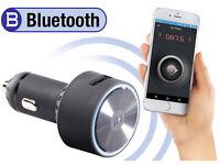 auvisio Kfz-FM-Transmitter FMX-520.BT mit Bluetooth und App-Steuerung MP3 Radio