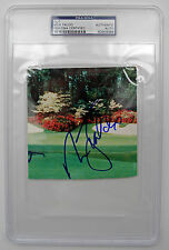 "NICK FALDO Autograph SIGNED CARD ""GOLDEN BELL"" AUTHENTIC PSA/DNA 6 MAJORS LEGEND"