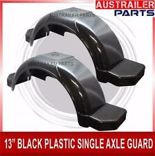 "2 X PLASTIC SINGLE AXLE GUARD 13"" WITH STEP AND COVER BLACK.PLASTIC AXLE GUARD"