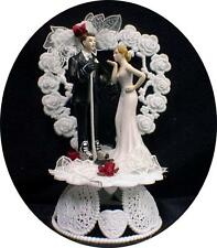 "your my ""HOCKEY HONEY""  PLAYER  Bride Wedding Cake Topper grooms TOP sweet kiss"