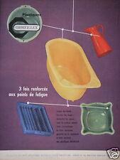 PUBLICITÉ 1958 GROSFILLEX PLASTIQUES 3 FOIS RENFORCÉS - ADVERTISING
