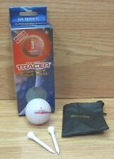Twilight Tracer Light-Up 80 Compression Golf Ball With 2 Tees & Pouch **READ**