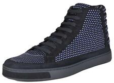 NEW Gucci Men's 391687 Blue Suede Studded High Top Sneakers Shoes 6.5 G 7.5 US