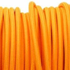 ORANGE vintage style lighting textile fabric electrical cord cloth cable