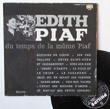 "Vinyle 33T Edith Piaf  ""Du temps de la môme Piaf"""