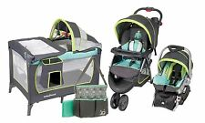 Baby Stroller Travel System Set, Car Seat Infant Playard Diaper Bag New
