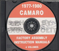 Camaro Assembly Manual CD 1980 1979 1978 1977 Chevy Factory Z28 LT Rally