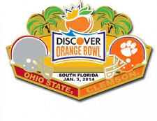Official 2014 Discover Orange Bowl Pin Clemson Tigers vs Ohio State Buckeyes