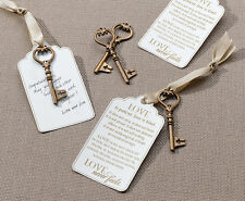 24 Christian Bronze Key Tags for Guest Signing  Wedding Guest Book Alternative