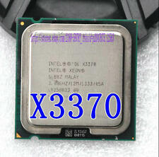Free shipping Intel Xeon X3370 CPU Quad Core 3.0GHz /12MB /1333 Processor SLB8Z