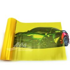 "12""x24"" Gloss Golden Yellow Smoke HeadLight Tailight Fog light Tint Film Sheet"