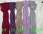 men Women's Fashion Gradient Wrap lady Shawl Stole Silk Chiffon Scarf Style WJ16