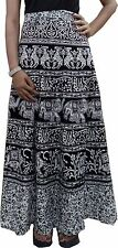 Indian New Wrap around Skirt Printed Boho Long Women dress Skirts Cotton