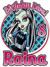 Monster High FrankieStein Birthday Party Shirt Iron On Transfer Custom Decal
