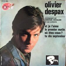 "Olivier Despax - Et je l'aime (Reprise des Beatles ) - Vinyl 7"" 45T (Single)"
