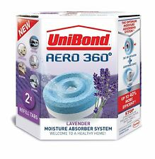 UniBond Aero 360 1989246 Lavender Refill 450 g - Pack of 2 Humidity Absorber NEW