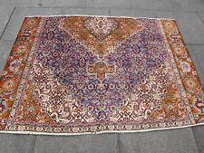 Shabby Chic Old Fragment Hand Made Persian Oriental Blue Wool Rug 131x85cm