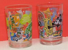 Walt Disney World 100 years of Magic, glassware with Disney trivia set of 2