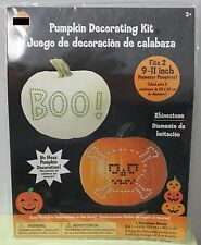 RHINESTONE 2 PUMPKIN DECORATING KIT No Carving Pirate Halloween Sparkle Kids NEW