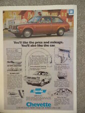 VINTAGE 1970'S CHEVY CHEVETTE AD-NOT A REPRODUCTION