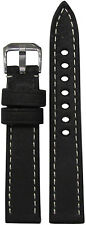 18mm RIOS1931 for Panatime Black Oxford Vintage Leather Watch Band 114/82 18/16