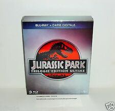 COFFRET 3 DVD BLU RAY JURASSIC PARK TRILOGIE EDITION ULTIME