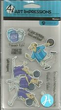 Ai Art Impressions Clear Stamps - Bowlers SC0680  #158