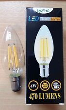 10 x 4w LED Clear Candle Filament Light Bulbs Lamp SBC Small Bayonet Cap B15 40w
