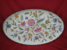 Minton Green Haddon Hall Fluted Oval Dish