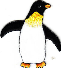 PENGUIN -ARCTIC  ANIMAL - Iron On Embroidered Applique Patch/Zoo Animals
