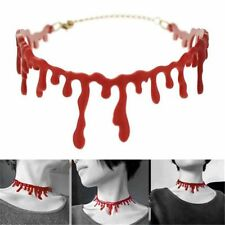 Wholesale Horror Blood Red Choker Necklace Halloween Frankenstein Retro Jewelry
