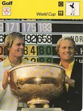 1977 JACK NICKLAUS & JOHNNY MILLER SPORTSCASTERS CARD (WORLD/CANADIAN CUP