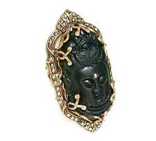 Large Statement Buddha Ring By Ollipop Sweet Romance, Made in USA, Drag Queen