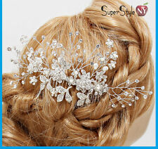 Rhinestone Blooming Buds Crystal Hair Bridal Flower Pin Comb & Wedding Stick