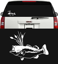 BASS FISHING VINYL DECAL STICKER CAR TRUCK BOAT WINDOW WALL GRAPHIC