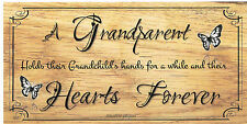 Beautiful wooden plaques Shabby Chic handmade signs gifts Grandparents