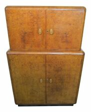AMAZING ART DECO 1920's BURR WALNUT COCKTAIL CABINET, LIQUOR BAR, EPSTEIN