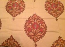 Schumacher Medallion Outdoor Upholstery Fabric- Ankara/Sand (51702) 0.95 yds