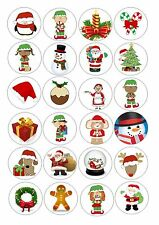24 icing cupcake cake toppers edible mixed christmas designs NEW 2013