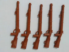 PLAYMOBIL LOTE 5U  RIFLES FUSILES CON ENGANCHES WESTERN OESTE FUSIL RIFLE