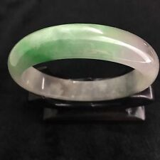 10% OFF- 60 mm-Certified Natural Ice Jadeite Emerald Jade Bangle《Grade A》2823