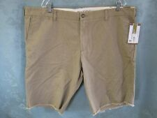 Dockers D3 Size 44 Flat Front Shorts NWT Frayed Cuff