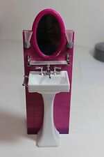 Barbie Doll House Furniture Pink Bathroom Vanity/Sink Fashion Feaver?