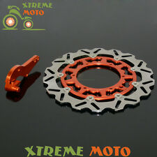 320 Oversize Floating Front Brake Discs Rotors + Bracket For KTM 125 250 300 450