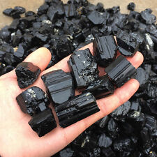 Raw Black Tourmaline Mineral Specimen Gemstone Reiki Chakra Crystal Metaphysical