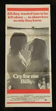 DAYBILL MOVIE POSTER - ORIGINAL - CRY FOR ME BILLY - CLIFF POTTS
